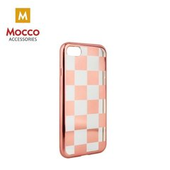 Mocco ElectroPlate Chess Silicone Case for Apple iPhone 7 Plus / 8 Plus Rose Gold