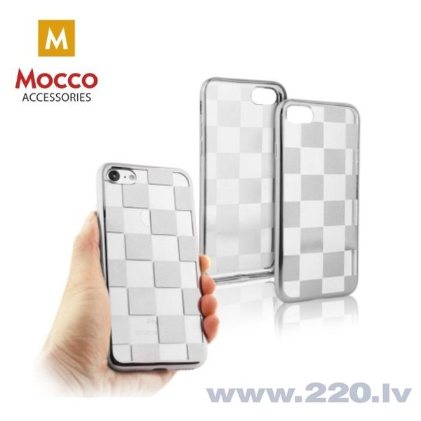 Mocco ElectroPlate Chess Silicone Case for Samsung J530 Galaxy J5 (2017) Silver