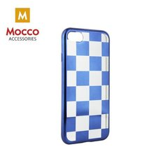 Mocco ElectroPlate Chess Silicone Case for Huawei P8 / P9 Lite (2017) Blue