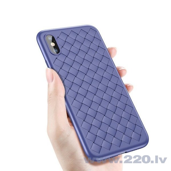 Baseus Weaving Case Impact Silicone Case for Apple iPhone X Blue cena