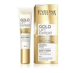 Atjaunojošs serums ādai ap acīm Eveline Gold Lift Expert SPF8 15 ml