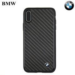BMW Carbon Fiber nugarėlės dangtelis telefonui Apple iPhone X, Juodas
