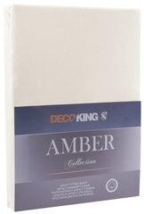 DecoKing jersey Amber Beige palags ar gumiju,180x200 vai 200x200 cm