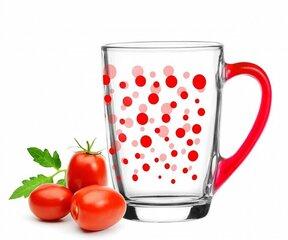 Glasmark puodelis ALA RED DOTS, 300 ml
