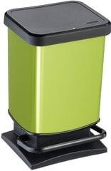 Atkritumu tvertne ar pedāli Rotho Paso, 20L, zaļā (laima) krāsā