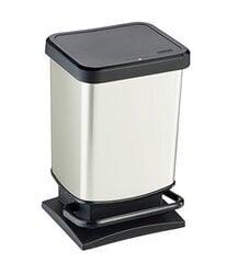 Atkritumu tvertne ar pedāli Rotho Paso, 20L, baltā krāsā