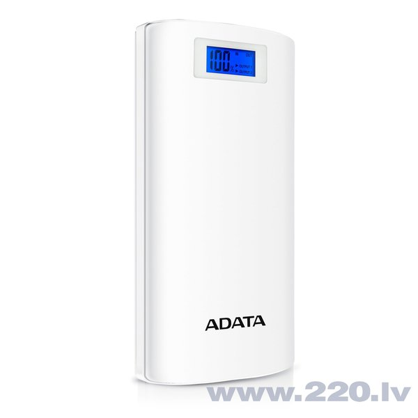 ADATA P20000D Power Bank 20000mAh, Balta