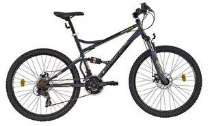 """Мужской горный велосипед DHS 2645 490, 19 """", черный серый"""