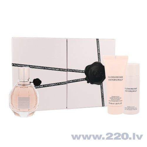 Комплект Viktor & Rolf Flowerbomb: EDP 50 мл + гель для душа 50 мл + крем для тела 40 мл