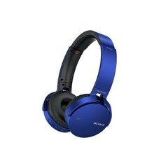 Austiņas SONY MDRXB650BTL.CE7, bezvadu, austiņas ar mikrofonu, zilas cena un informācija | Austiņas | 220.lv