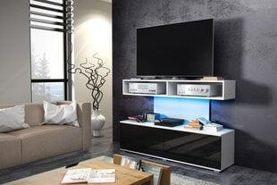 RTV стол Rex, белый/черный цена и информация | Столики под телевизоры | 220.lv