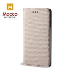 Aizsargmaciņš Mocco Smart Magnet Book Case, piemērots Huawei Mate 10 Pro telefonam, zeltains