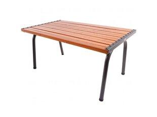 Galds Patio Park Plus 151 x 86 x 73 cm, brūns/pelēks cena un informācija | Dārza galdi | 220.lv