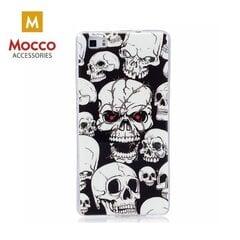 Telefona maciņšMocco Fashion Case Glow in The Dark Skull,piemērots Apple iPhone 7 Plus/8 Plustelefons, melns