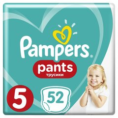 Autiņbiksītes PAMPERS Pants Giant Box, 5 izmērs, 12-17 kg, 52 gab.