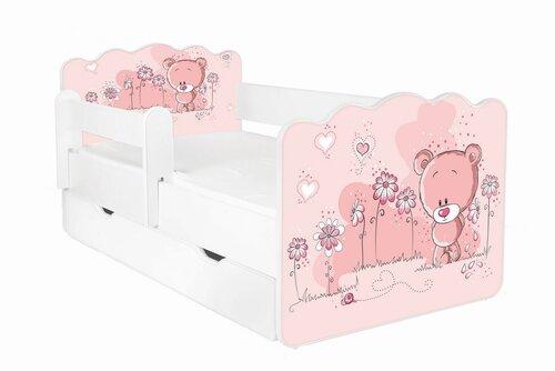 Gulta ar matraci, veļas kasti un noņemamu aizsargmalu ALEX 6, 140x70 cm