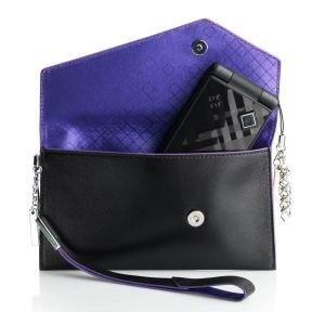 Telefona maciņš - maksSonyEricsson Design Collection IDC-23, melns/violets
