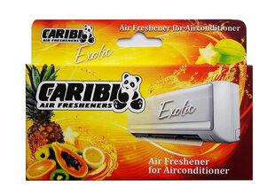 Gaisa atsvaidzinātājs kondicionierim Caribi Exotic, augļu smarža cena un informācija | Piederumi gaisa regulēšanas iekārtām | 220.lv