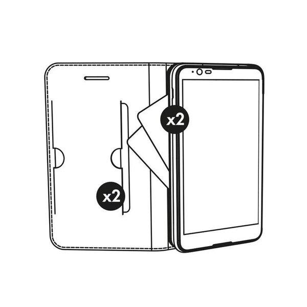 Atverams maciņš Krusell Malmo 4 Card, piemērotsSamsung Galaxy A3 (2017) telefonam, melns lētāk