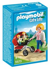 Konstruktors 5573 PLAYMOBIL® City Life, Mother with Twin Stroller cena un informācija | Konstruktori | 220.lv