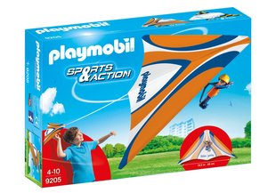 Konstruktors 9205 PLAYMOBIL® Sports and Action, Orange Hang Glider cena un informācija | Konstruktori | 220.lv