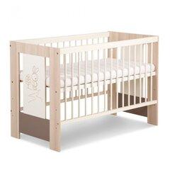 Bērnu gulta Klupś Little bunny 120x60, balta/brūna
