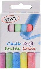 Krāsaini krītiņi 12 gab. cena un informācija | Kancelejas preces | 220.lv
