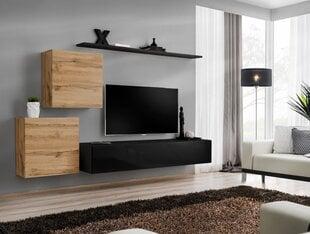 Sekcija Switch V, ozols/melna cena un informācija | Sekcijas | 220.lv