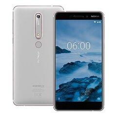 Nokia 6 (2018) 32GB, Dual SIM LTE, Balta cena un informācija | Mobilie telefoni | 220.lv