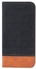 Atverams maciņš TelForceOne Smart Retro, piemērots Apple iPhone X / iPhone 10 telefonam, melns