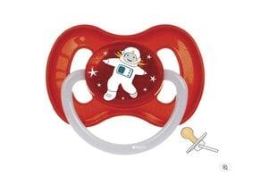 Canpol apaļš lateksa knupītis Kosmo 0-6 mēn., sarkans cena un informācija | Canpol apaļš lateksa knupītis Kosmo 0-6 mēn., sarkans | 220.lv