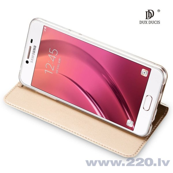 Atverams maciņš Dux Ducis Premium Magnet Case, piemērots Huawei P20 Pro telefonam, zeltains lētāk