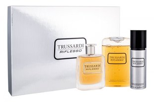 Komplekts Trussardi Riflesso: EDT 100 ml + dušas želeja 200 ml + dezodorants 100 ml