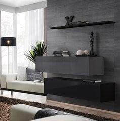 Комплект мебели для гостиной Switch SB 2, серый/черный цена и информация | Комоды, ночные шкафчики | 220.lv