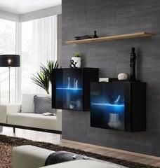 Комплект мебели для гостиной Switch SB 3, черный/дуб цена и информация | Комоды, ночные шкафчики | 220.lv