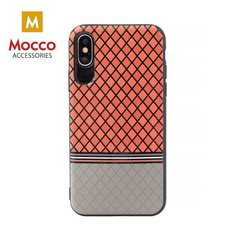 Aizsargmaciņš Mocco Trendy Grid And Stripes Silicone Back Case Samsung G955 Galaxy S8 Plus Red (Pattern 2)