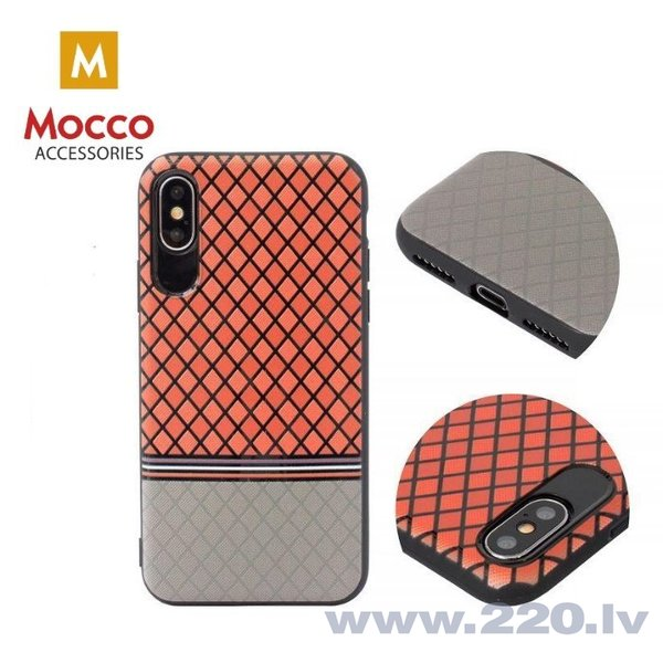 Aizsargmaciņš Mocco Trendy Grid And Stripes Silicone Back Case Samsung G955 Galaxy S8 Plus Red (Pattern 2) internetā