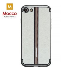 Aizsargmaciņš Mocco Trendy Grid And Stripes Silicone Back Case Apple iPhone 7 Plus / 8 Plus White (Pattern 3)