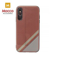Aizsargmaciņš Mocco Trendy Grid And Stripes Silicone Back Case Apple iPhone 7 Plus / 8 Plus Red (Pattern 1)