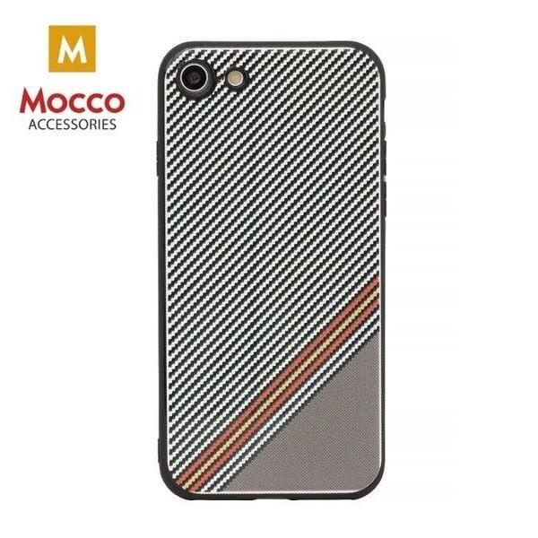Aizsargmaciņš Mocco Trendy Grid And Stripes Silicone Back Case Apple iPhone X White (Pattern 1) cena un informācija | Maciņi, somiņas | 220.lv