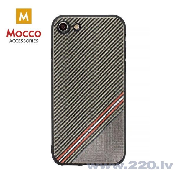 Aizsargmaciņš Mocco Trendy Grid And Stripes Silicone Back Case Apple iPhone 7 / 8 Brown (Pattern 1)
