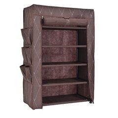 Текстильный обувной шкаф Vitto, коричневый цена и информация | Мебель для прихожей | 220.lv