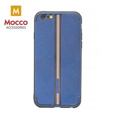 Aizsargmaciņš Mocco Trendy Grid And Stripes Silicone Back Case Apple iPhone 7 Plus / 8 Plus Blue (Pattern 3)