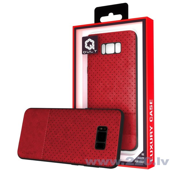 Aizsargmaciņš Qult Luxury Drop Back Case Silicone Case Samsung Galaxy Note 8 Red cena