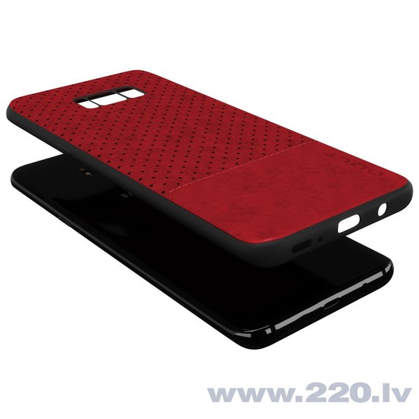 Aizsargmaciņš Qult Luxury Drop Back Case Silicone Case Samsung Galaxy Note 8 Red internetā