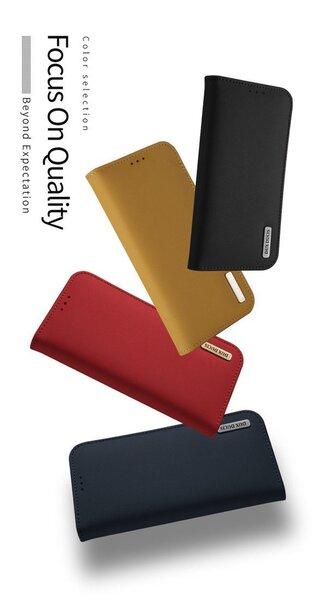 Atverams ādas maciņš Dux Ducis Wish Magnet Case, piemērots Apple iPhone X telefonam, sarkans internetā