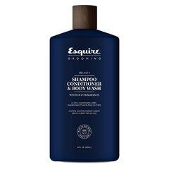 Matu šampūns, kondicionieris un ķermeņa tīrīšanas līdzeklis vienā vīriešam Farouk Systems Esquire Grooming The 3-In-1 414 ml