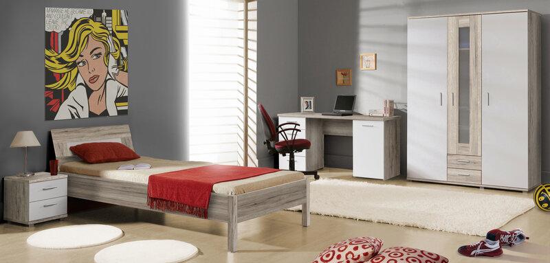 Ночной столик Beach BEAK11, белый/дубовый цвет