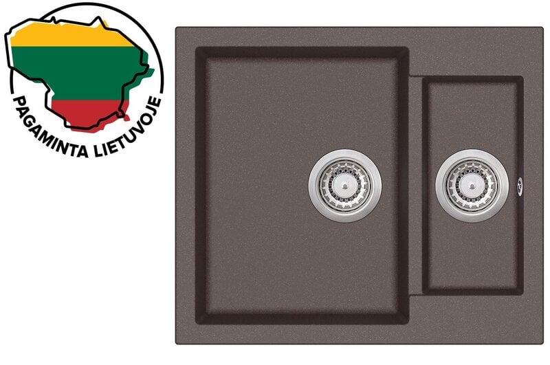 Mākslīgā granīta virtuves izlietne Aquasanita Tesa SQT150, 120 Cerrus