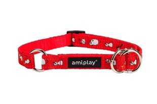 Amiplay daļēji savelkošā kakla siksna Wink, XL, sarkana